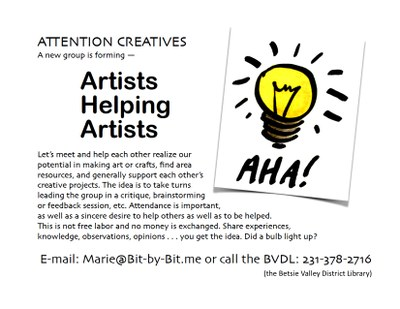 Artists Helping Artists Group flyer