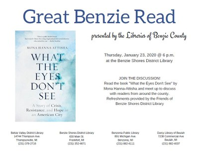 Great Benzie Read, Benzie Shores District Library Jan. 23, 2020