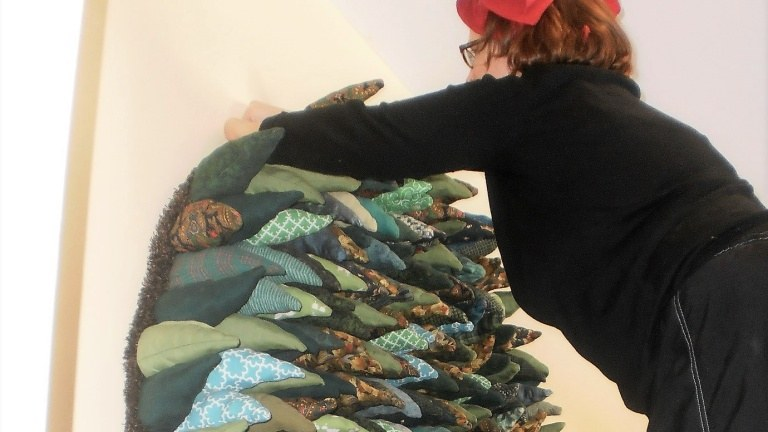 Local Creative Being hanging Quilt