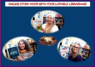 Online Story Hour with our Lovable Librarians infographic